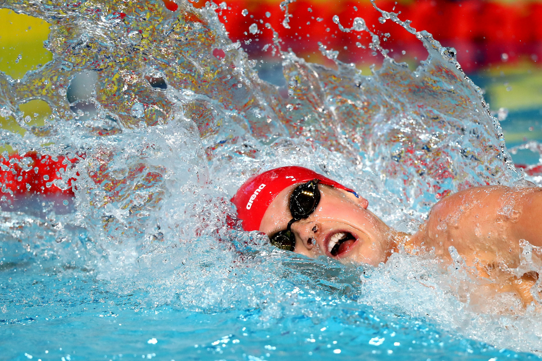 Thomas Hamer of England broke his own world record in the men's S14 200m freestyle ©Getty Images