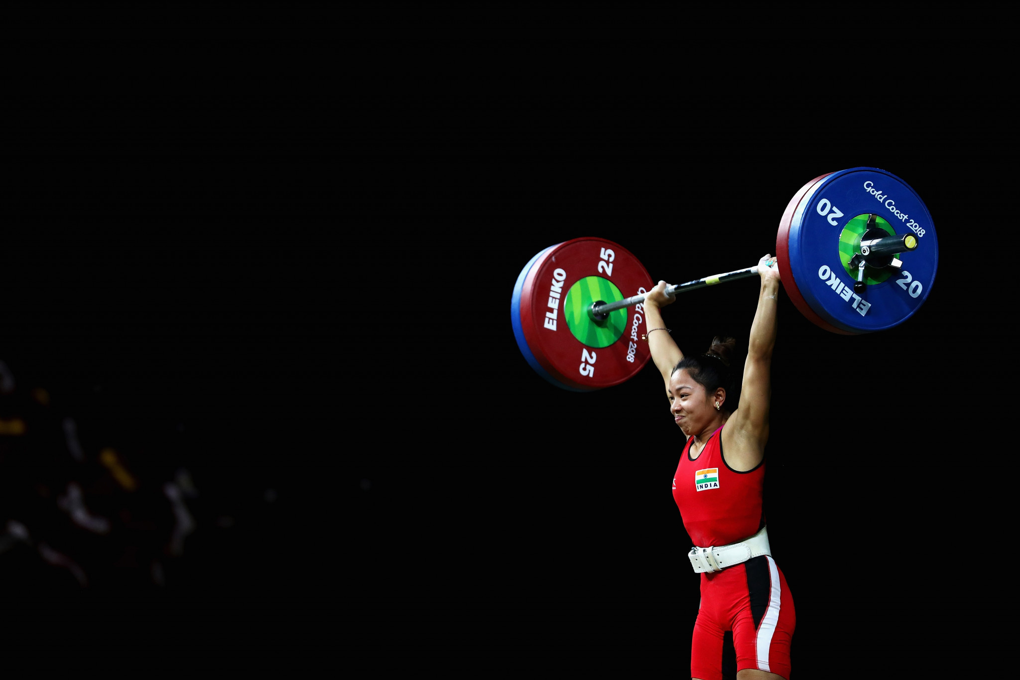 Saikhom Mirabai Chanu won her first Commonwealth Games title in 2018 ©Getty Images