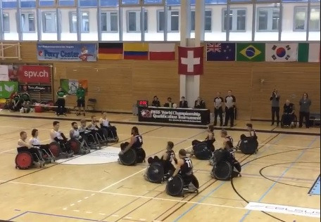 New Zealand performed a haka before their match against Ireland ©IWRF/Facebook