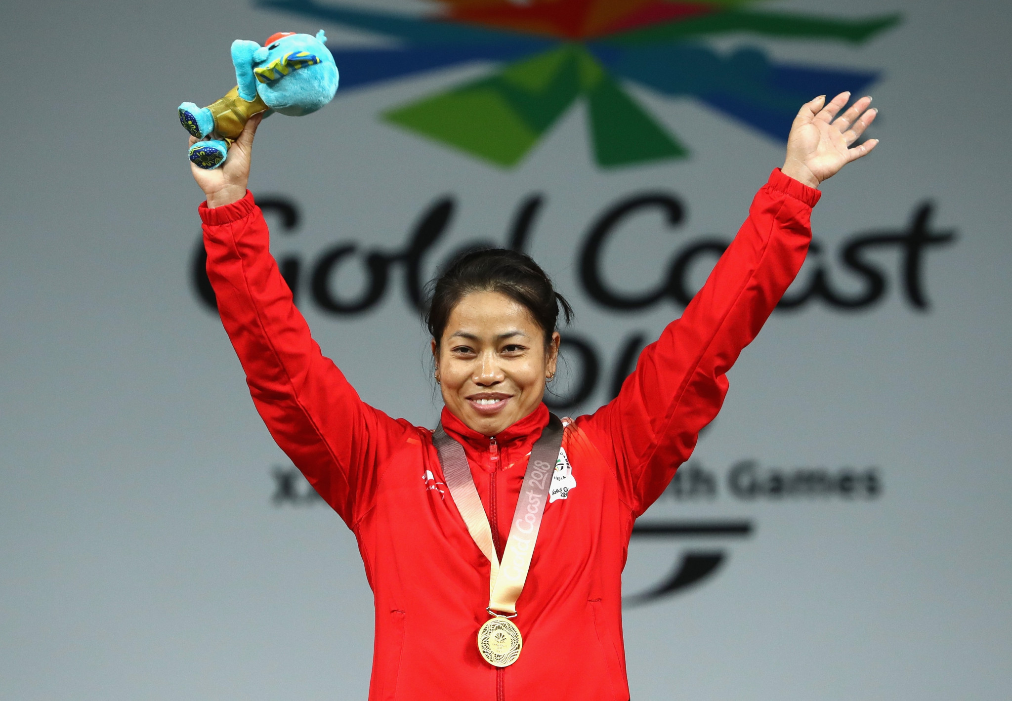Sanjita Chanu Khumukcham claimed India's second weightlifting gold medal of Gold Coast 2018 after winning the women's 53kg event today ©Getty Images