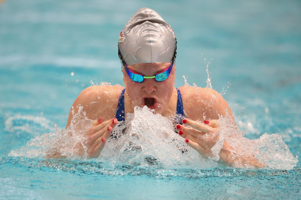 Layla Black took gold in the girl's 100m breaststroke to secure England's only swimming title on day two