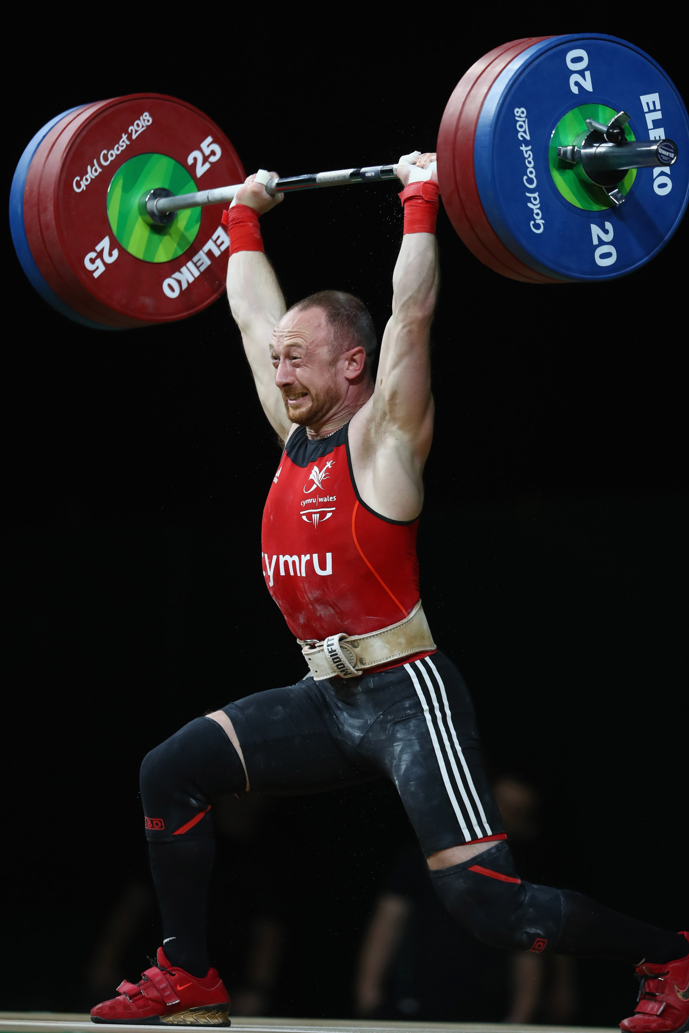 Gareth Evans secured Wales' first gold medal of Gold Coast 2018 with a dramatic victory in the men's 69kg event ©Getty Images