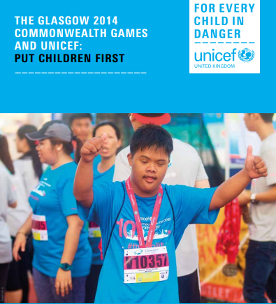 The CGF and UNICEF have published their impact report on programmes which used money raised at Glasgow 2014 ©UNICEF