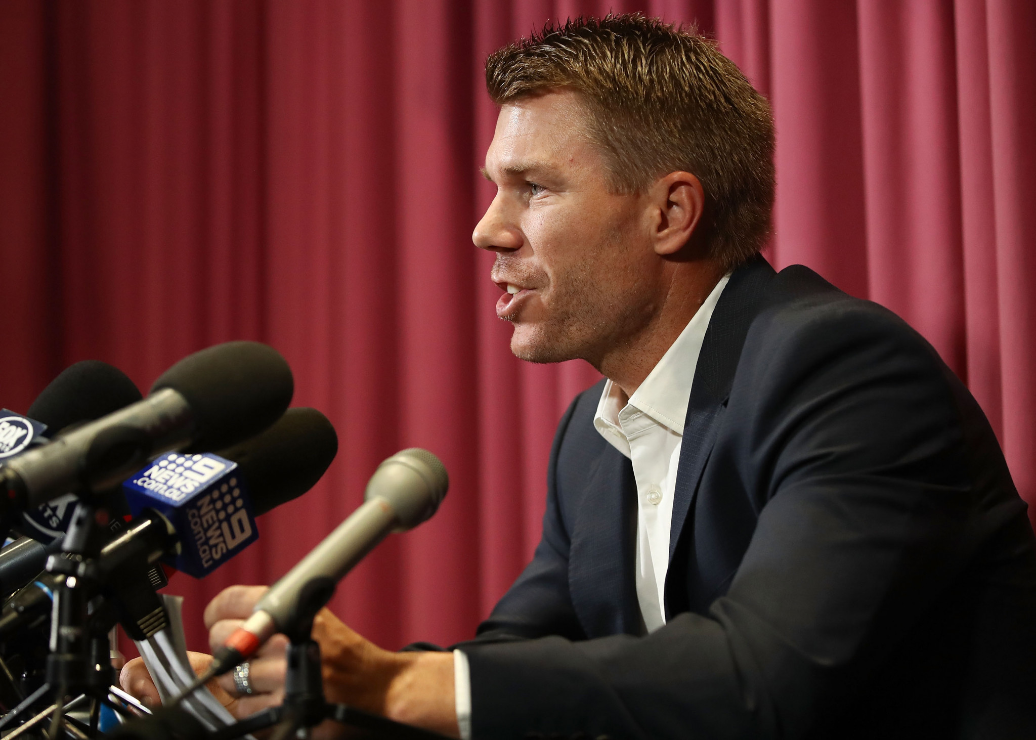 David Warner has accepted the sanction from Cricket Australia ©Getty Images