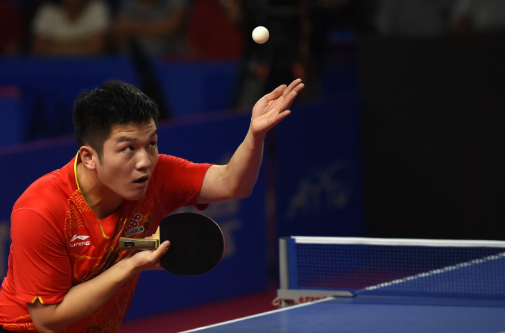 China's world number one Fan Zhendong was beaten by 14-year-old Japanese player Tomokazu Harimoto in his Asian Cup group match in Yokohama ©ITTF