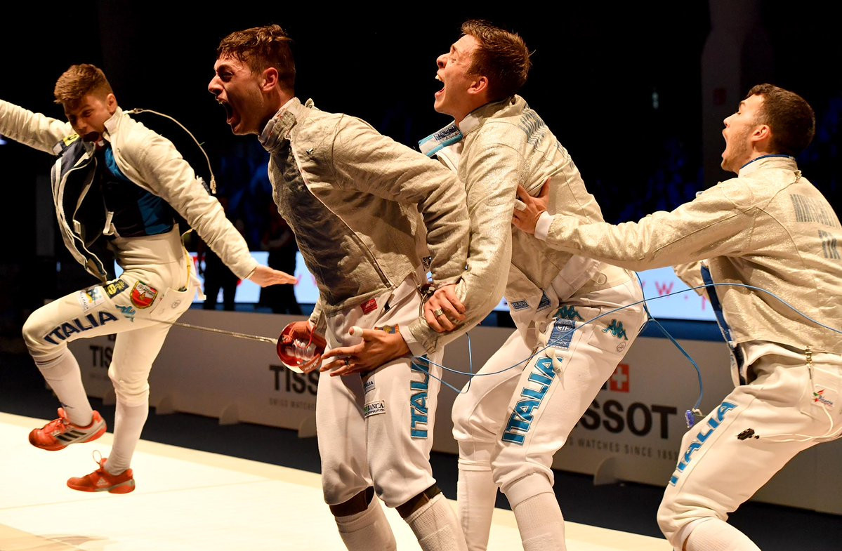 Italy win men's team sabre title at Junior and Cadets World Fencing Championships