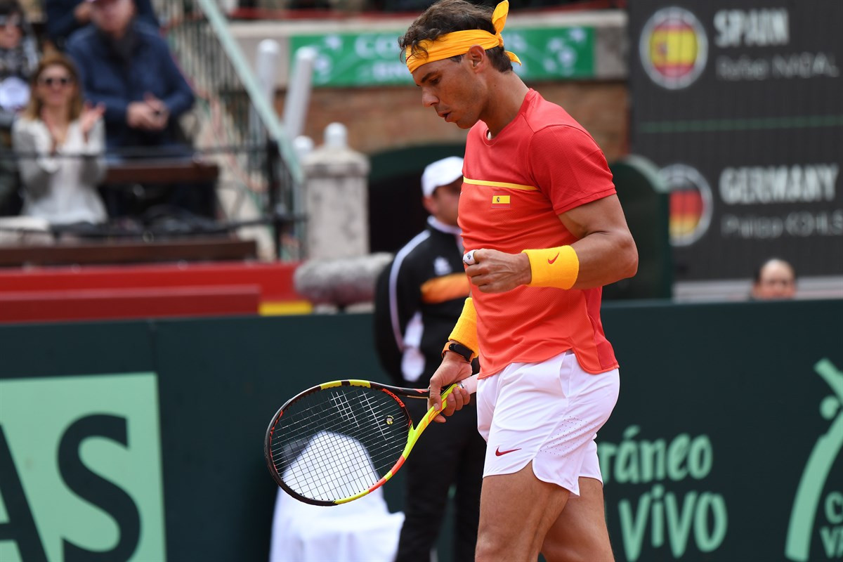 Rafael Nadal created a Davis Cup record today with his victory over Germany's Philipp Kohlschreiber ©ITF