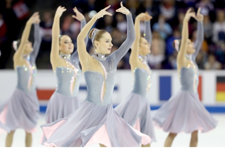 Russia's defending champions Team Paradise won the short programme at the ISU World Synchronised Skating Championships in Stockholm ©ISU