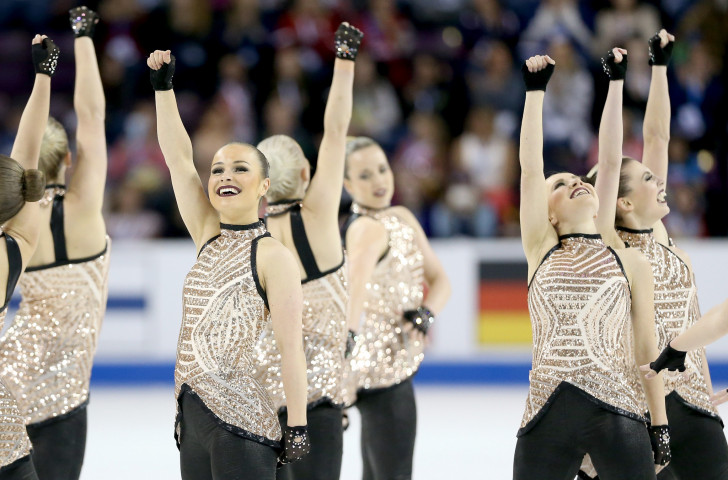 Home challengers Team Surprise go into tomorrow's concluding free skating section of the ISU World Synchronised Skating Championships in Stockholm in second place behind Russia's Team Paradise ©ISU