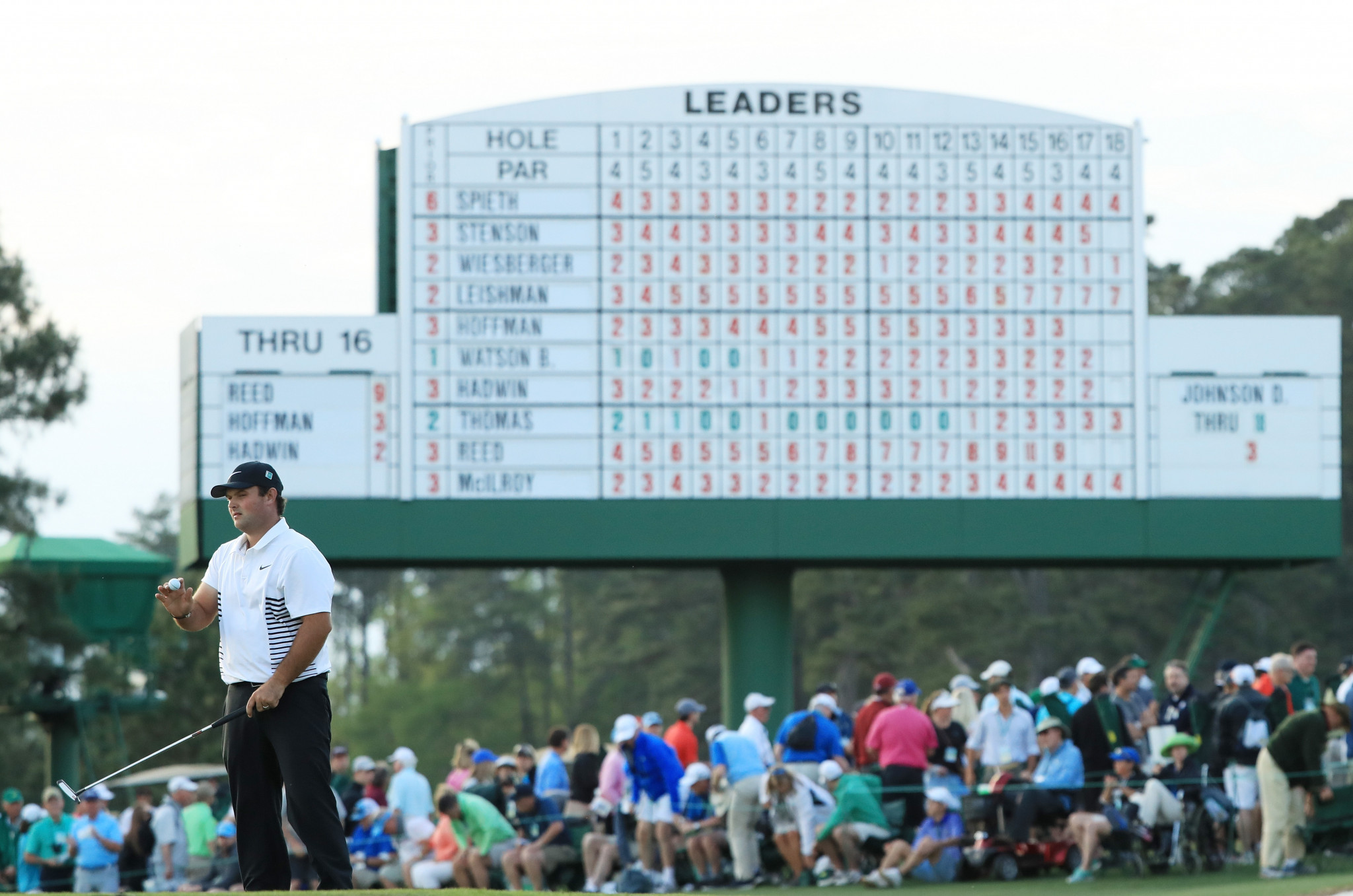 Patrick Reed is the leader at the halfway stage of The Masters ©Getty Images