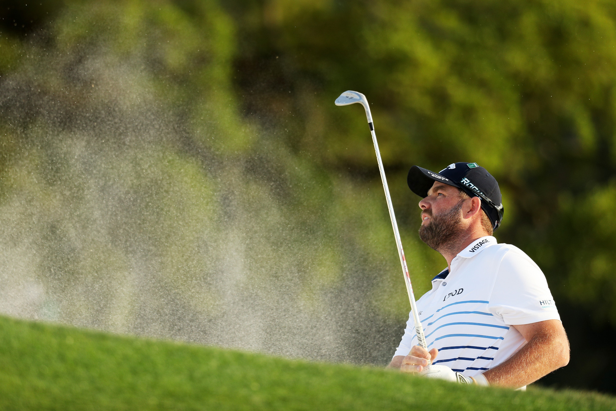 Australian Marc Leishman is second, two shots adrift of leader Patrick Reed ©Getty Images