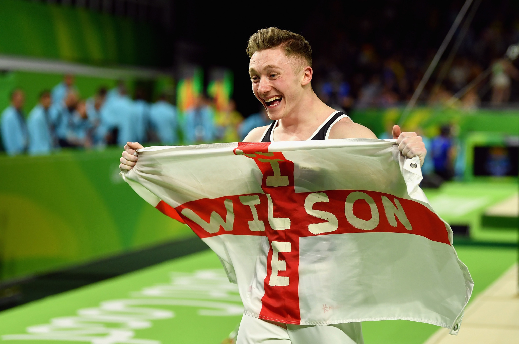 Nile Wilson secured the men's all-around individual title ©Getty Images