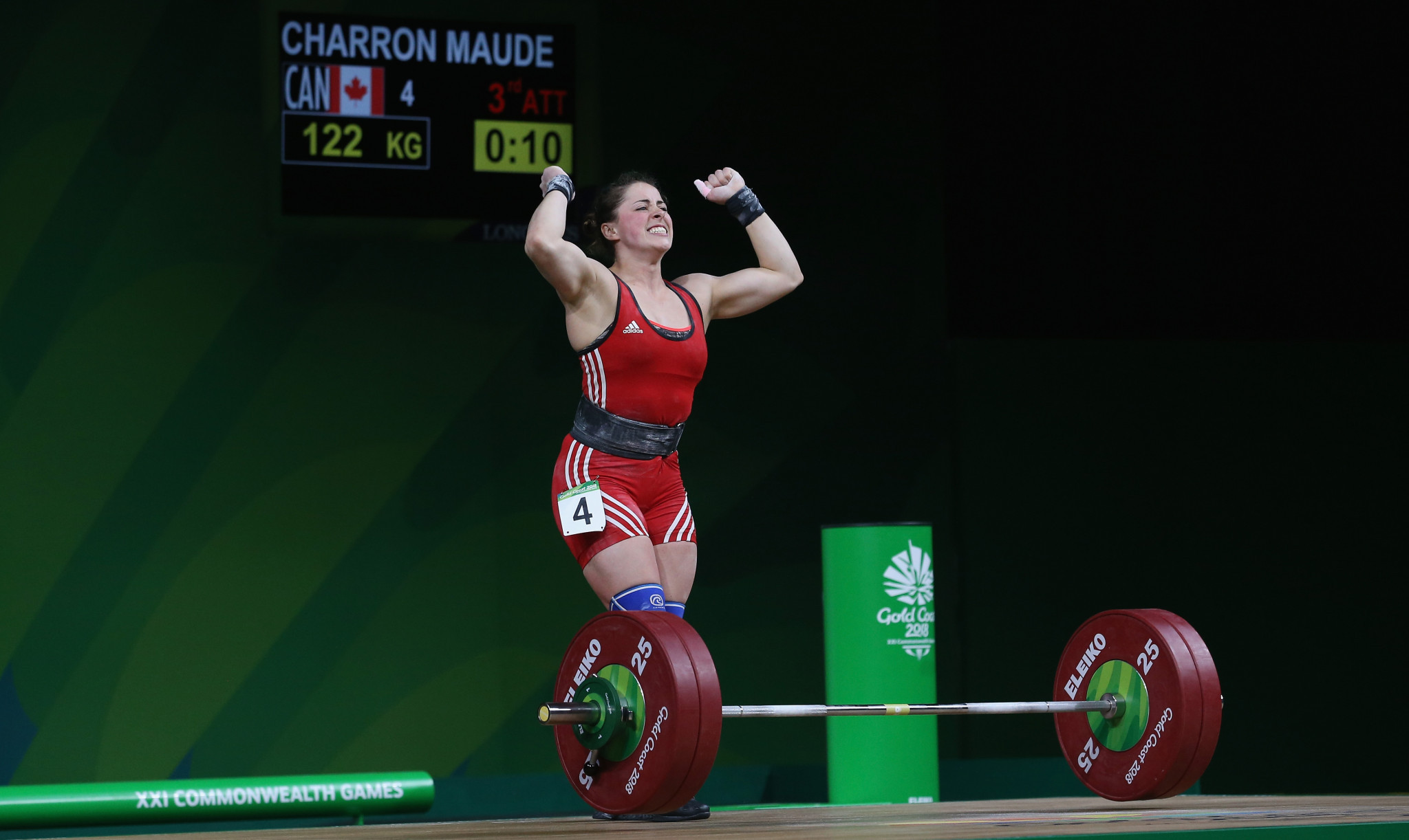 Canada's Charron claims Gold Coast 2018 weightlifting gold before breaking Commonwealth Games clean and jerk record