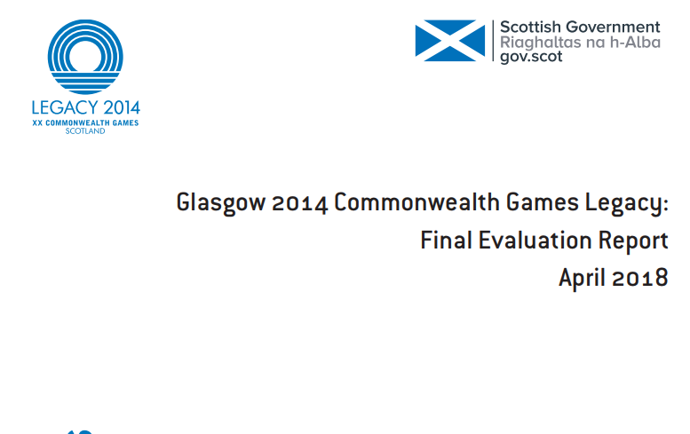 A Commonwealth Games legacy report has been published ©Scottish Government