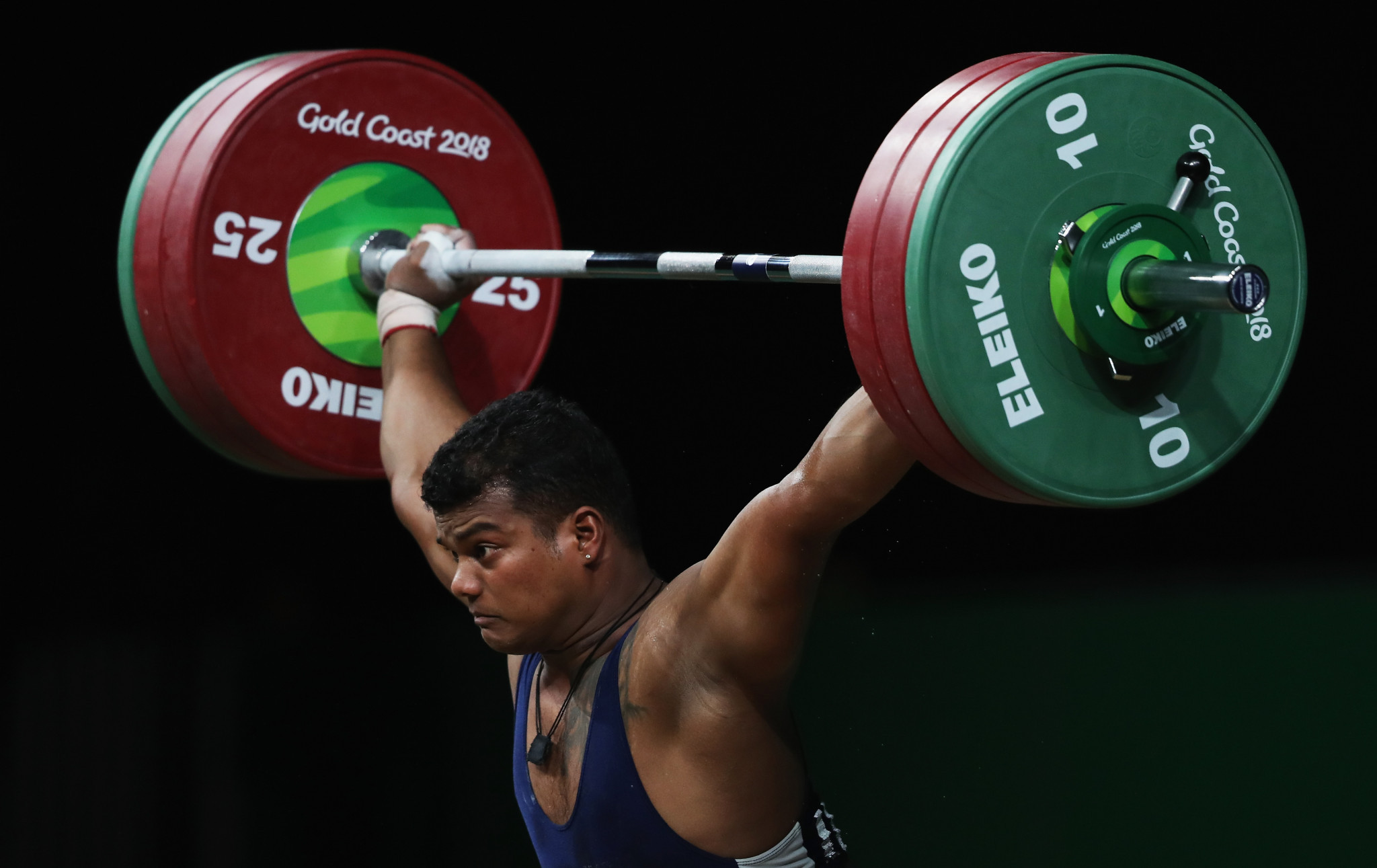 Venkat Rahul Ragala increased India's weightlifting gold medal tally to four with success in the men's 85kg event ©Getty Images