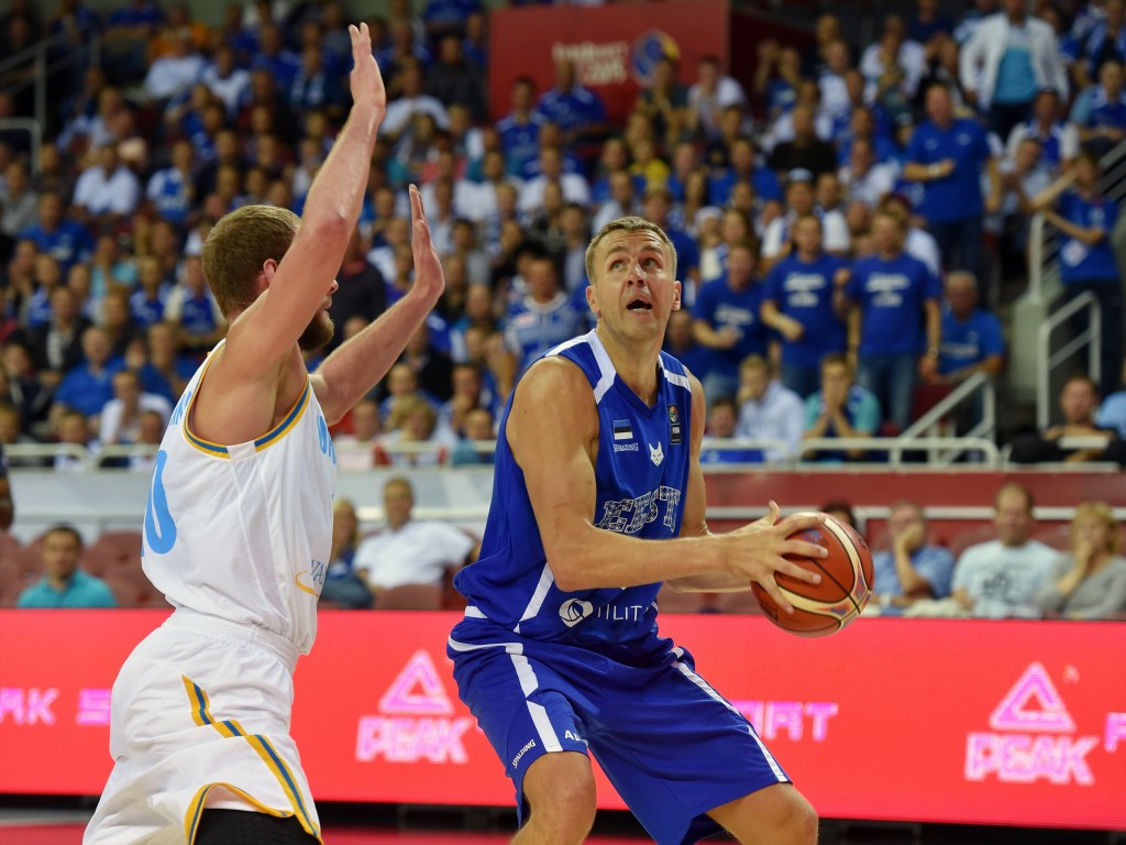 Estonia claimed a first win against Ukraine