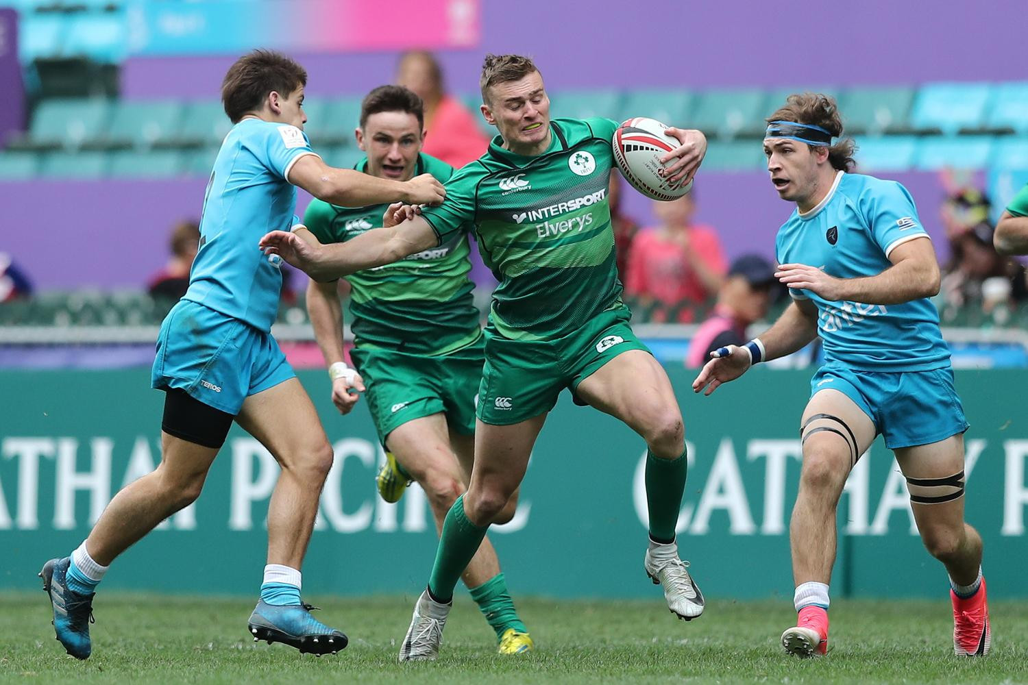 Ireland two wins from World Sevens Series promotion as Fiji and South Africa set pace in Hong Kong