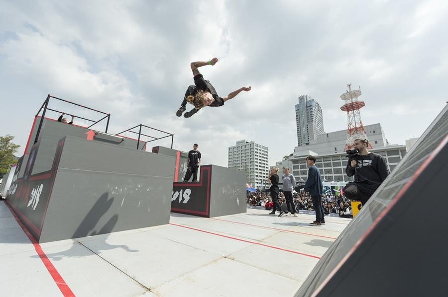 The first-ever FIG Parkour World Cup finals took place at the FISE World Series in Hiroshima today ©FISE