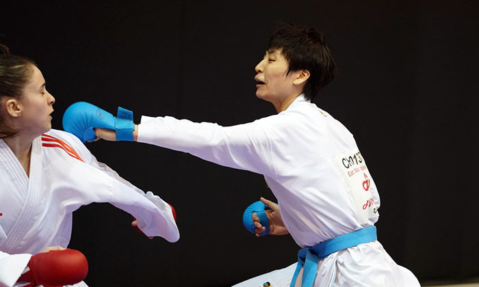 China's Xiaoyan Yin one step from third WKF Karate 1-Premier League gold of season in Rabat