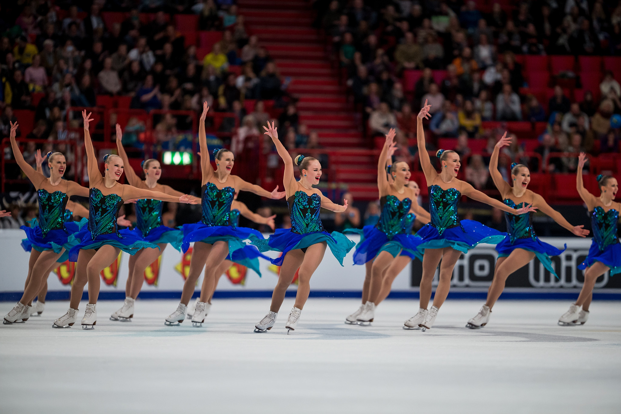 Finland's Team Marigold Ice Unity kept it together as Russia's Team Paradise were less than perfect to earn a fifth ISU World Synchronized Skating title in Stockholm ©ISU