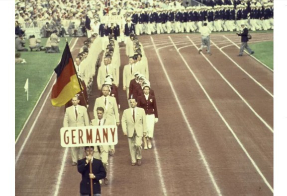 Claude Hess competed as part of a united Germany team at the 1956 Olympic Games in Melbourne ©Wikipedia