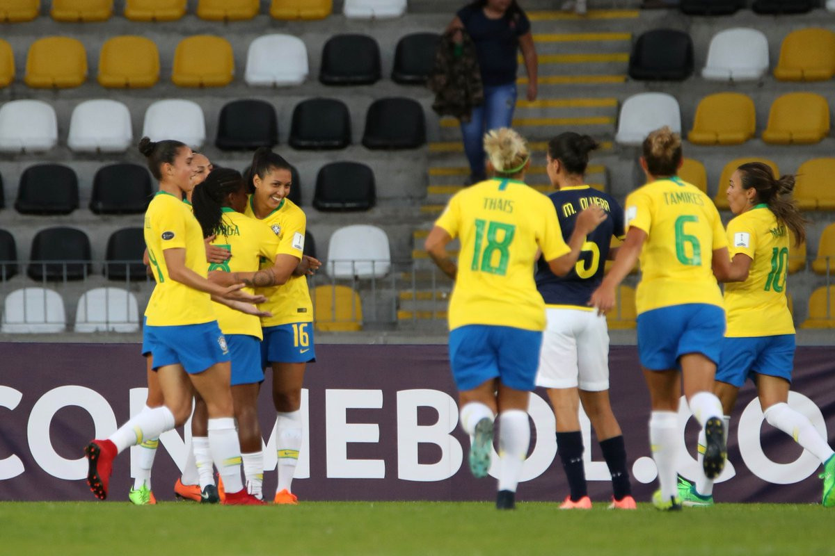 Brazil earned an 8-0 win over Ecuador in a one sided match ©Twitter/Copa America Femenina