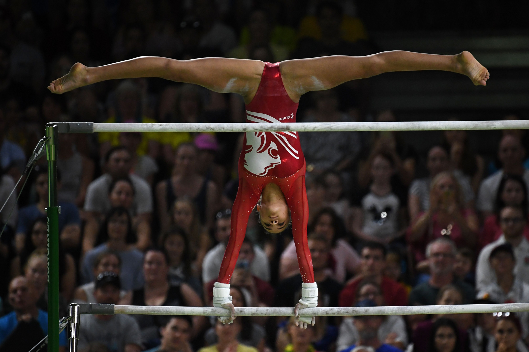 England's Georgia-Mae Fenton clinched the women's uneven bars honours ©Getty Images