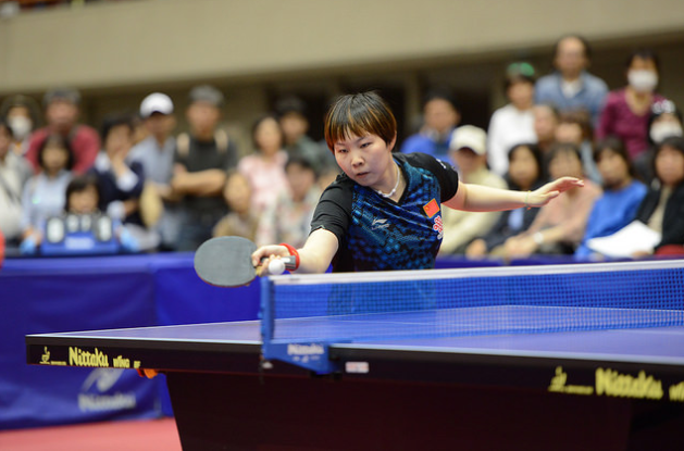 China's Zhu Yuling retained her ITTF Asian Cup title in Yokohama today by defeating team-mate and top seed Chen Meng ©ITTF