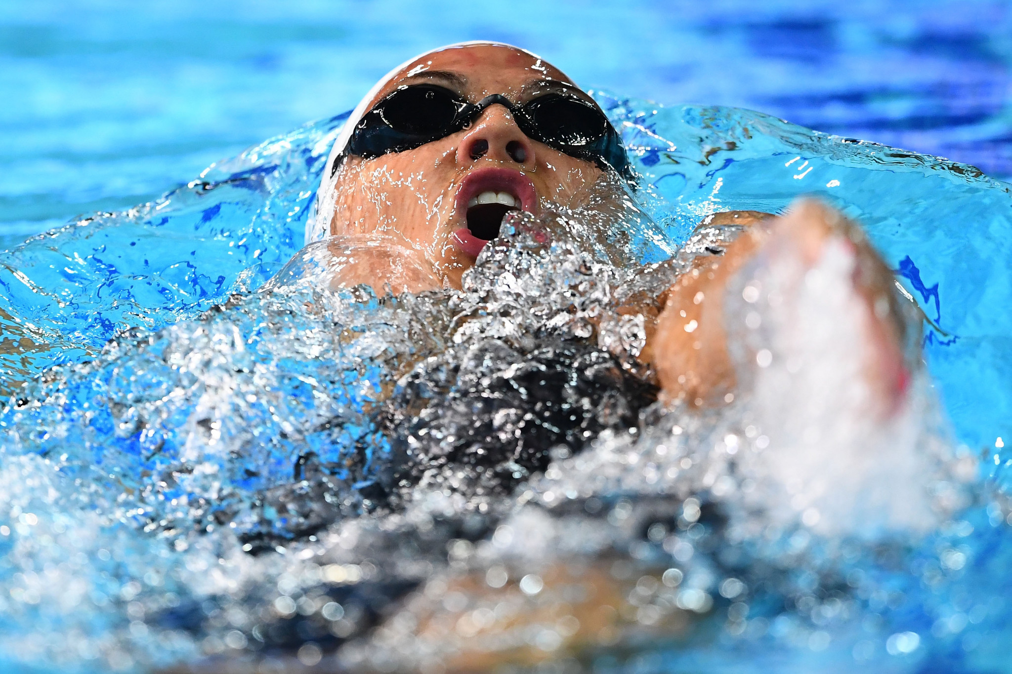 Kylie Masse claimed her second individual gold of the Games as she led a one-two in the women's 200m backstroke ©Getty Images