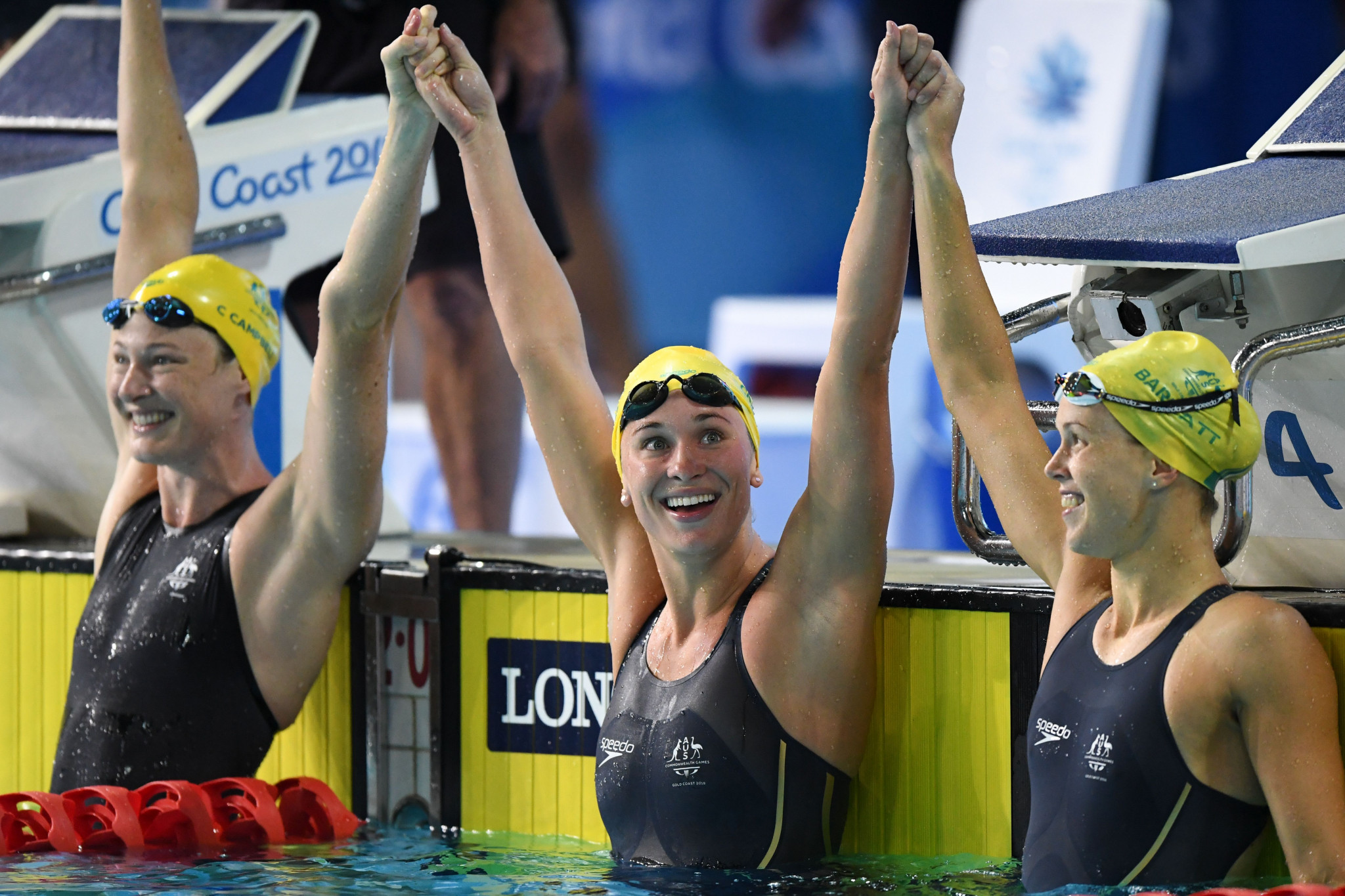 Australia enjoyed two clean sweeps, including in the women's 50m butterfly ©Getty Images