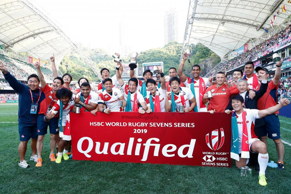 Japan earned their place in the next World Rugby Sevens Series by winning 19-14 in their final qualifier against Germany in Hong Kong ©World Rugby