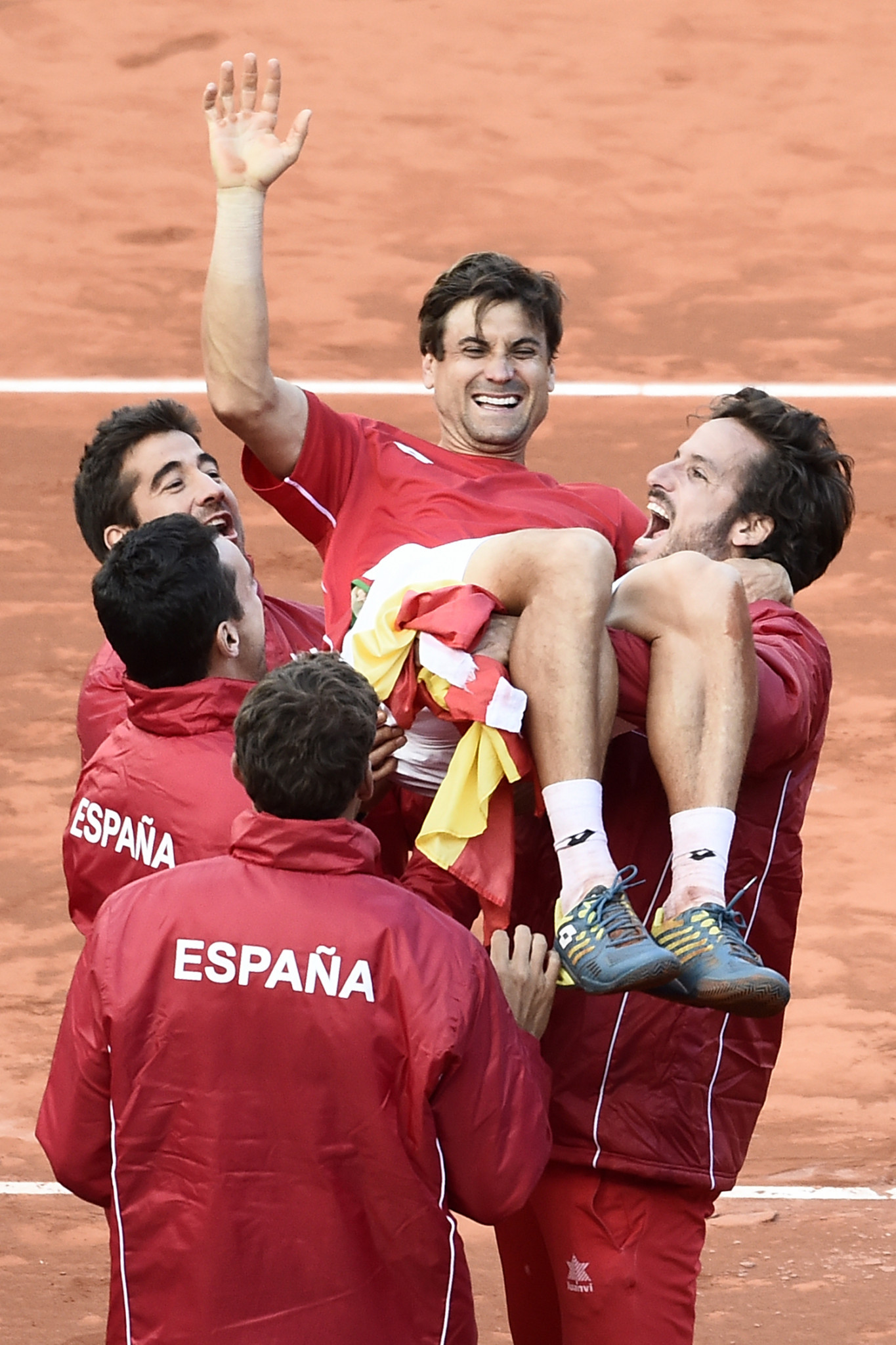 David Ferrer won the decisive rubber to put Spain in the Davis Cup World Group semi-final against holders France ©Getty Images