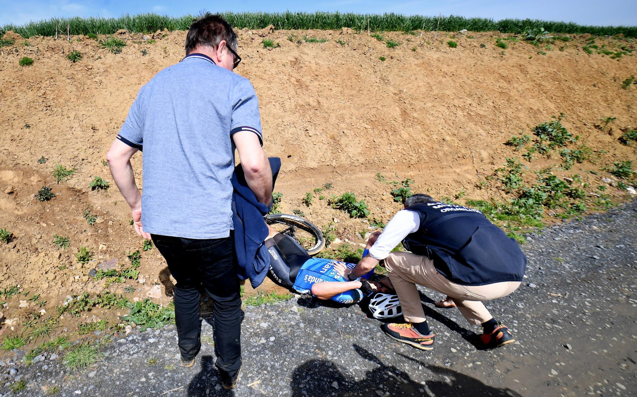Belgian cyclist Goolaerts dies after crash at Paris-Roubaix
