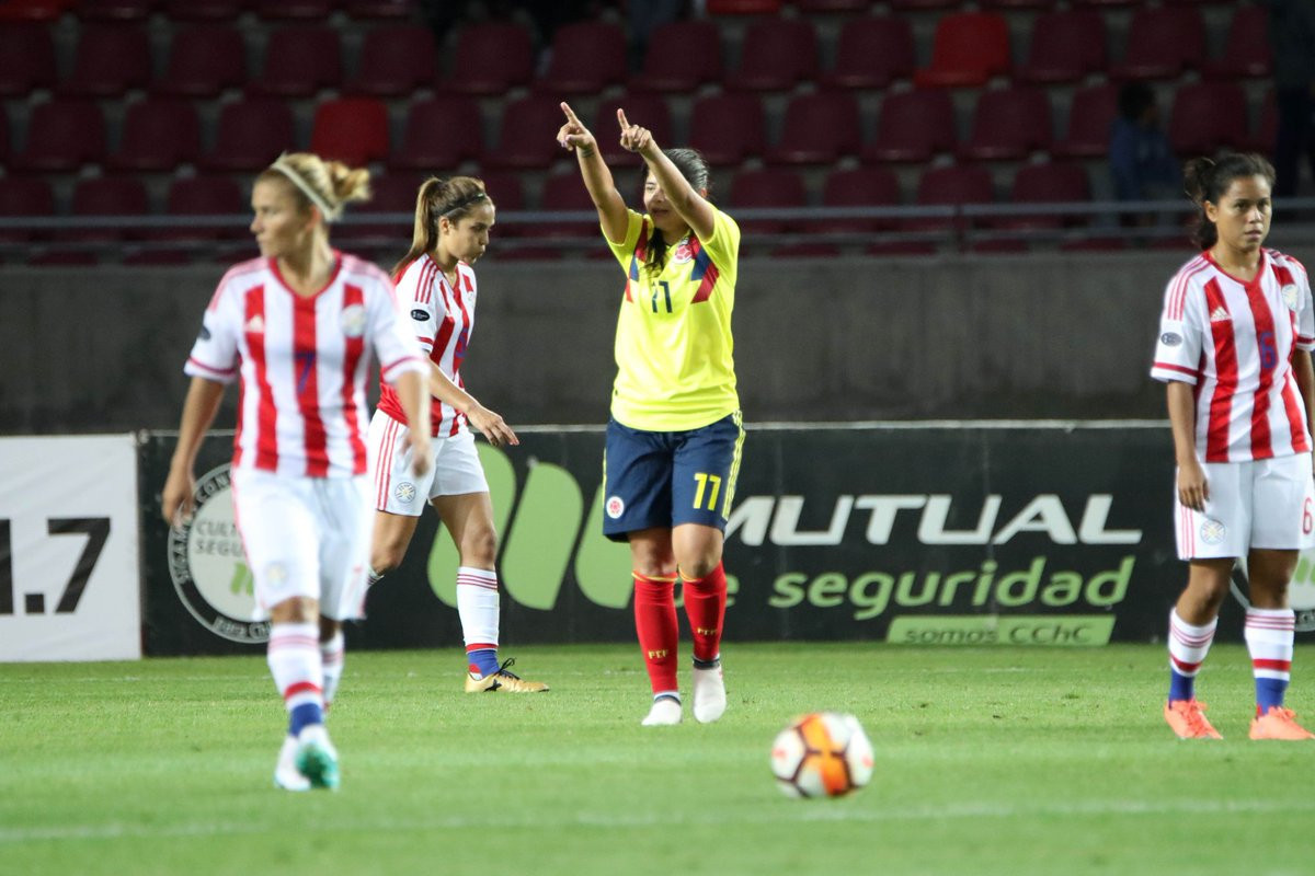 Catalina Usme scored a hat-trick as Colombia beat Paraguay ©Twitter/CAFemChile2018