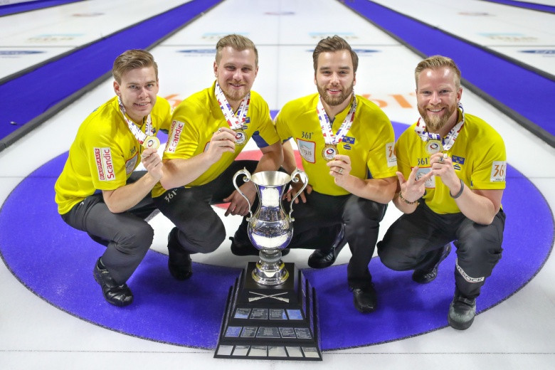 Olympic silver medallists Sweden beat Canada to secure World Men's Curling Championship title