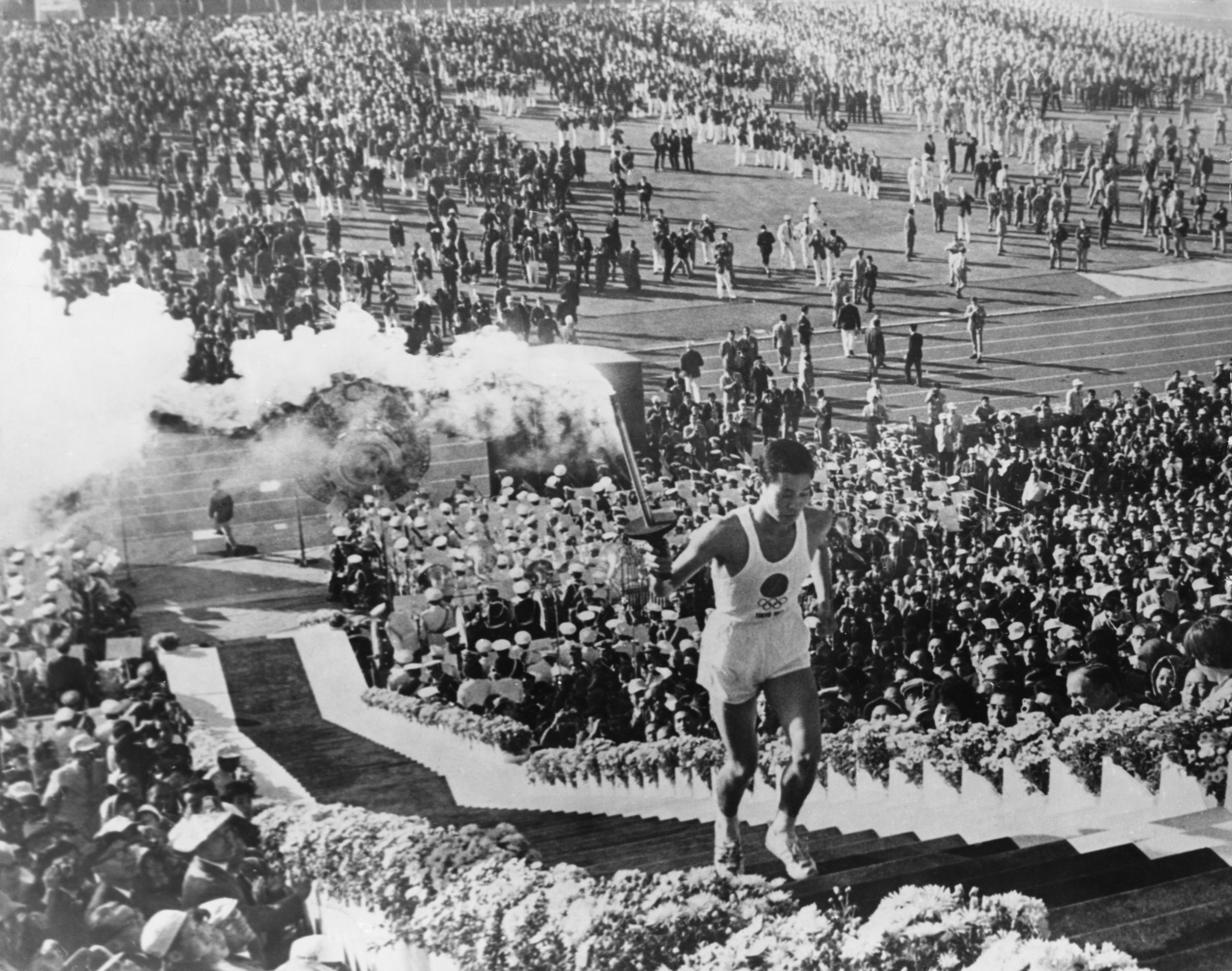 The Torch Relay for the 1964 Olympic Games started in Okinawa before travelling to Tokyo ©Getty Images