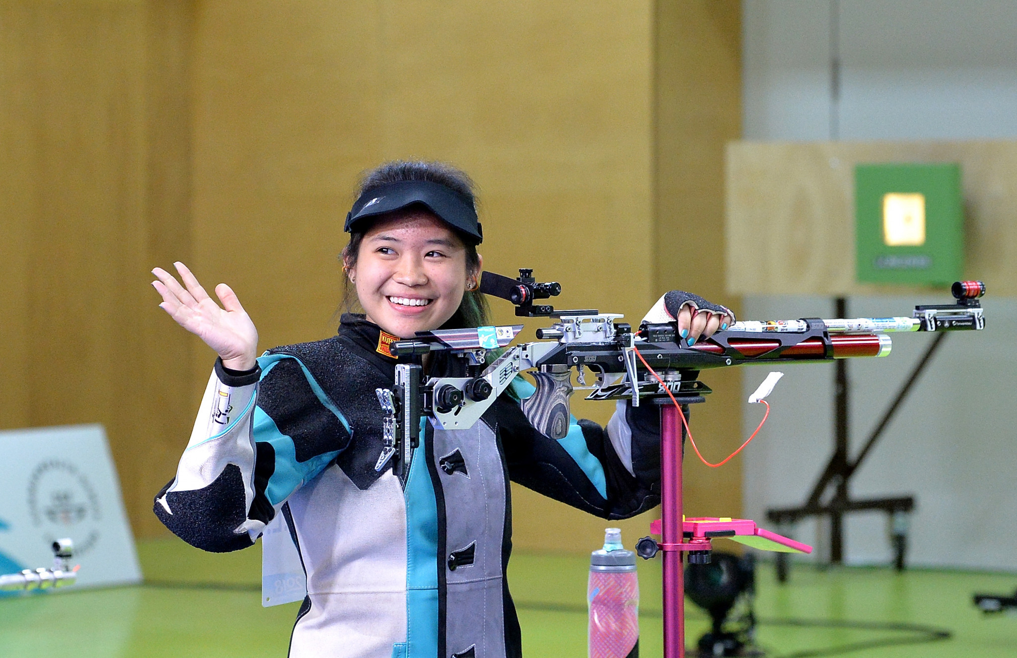 Martina Veloso won a shoot-off in the women's 10m air rifle event ©Getty Images