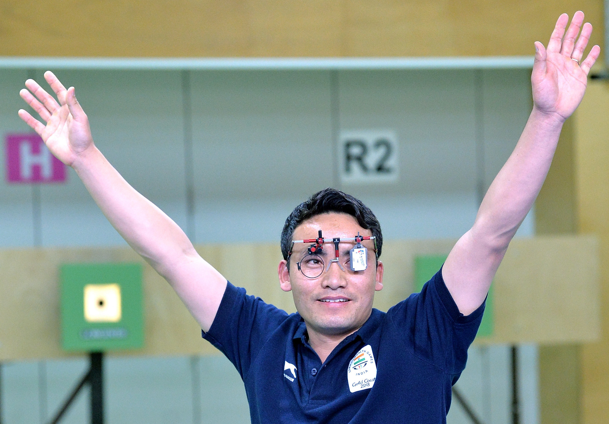 Jitu Rai emerged as the winner of the men's 10m air pistol competition ©Getty Images