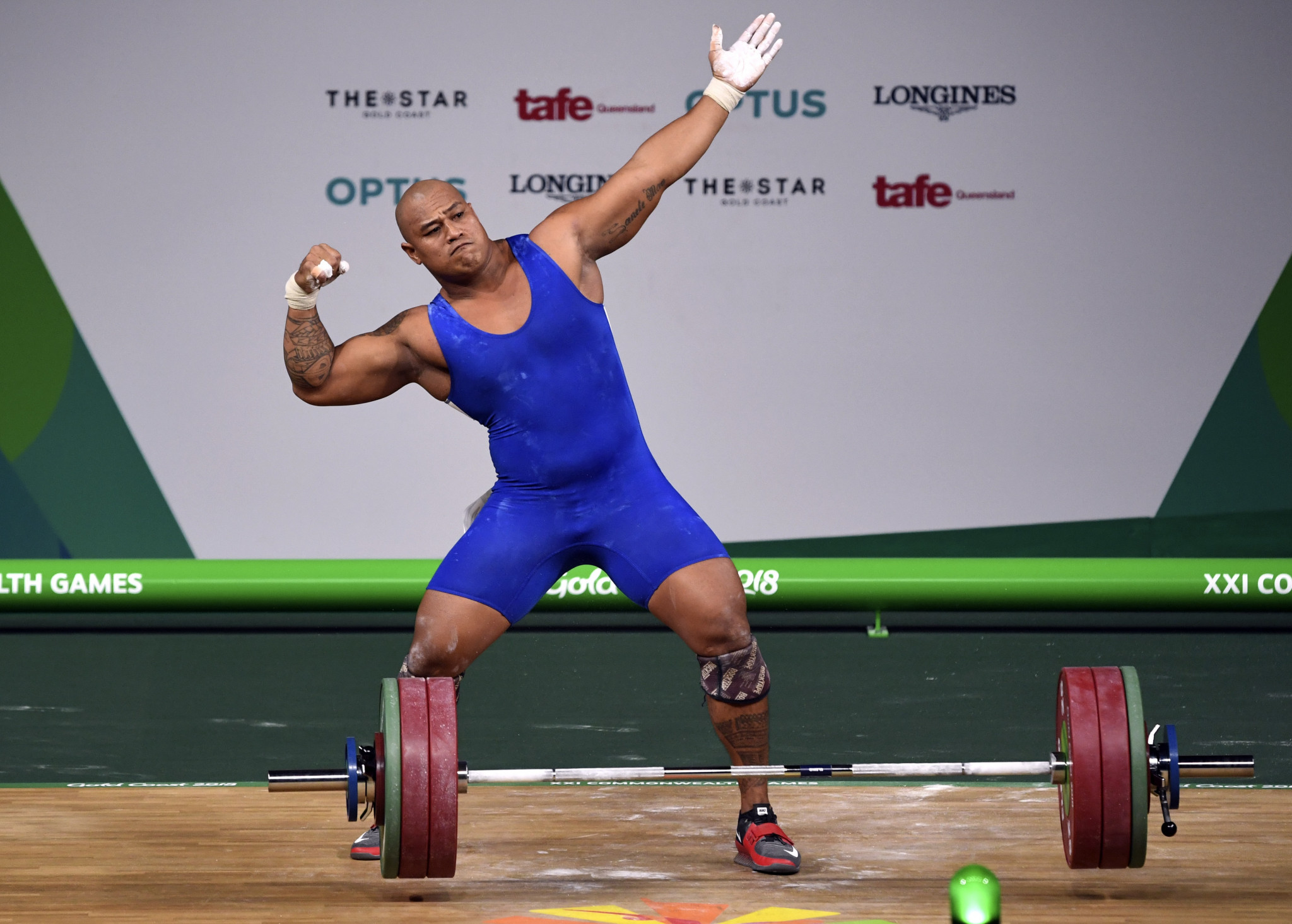 Samoa's Sanele Mao came out on top in the men's 105kg event ©Getty Images
