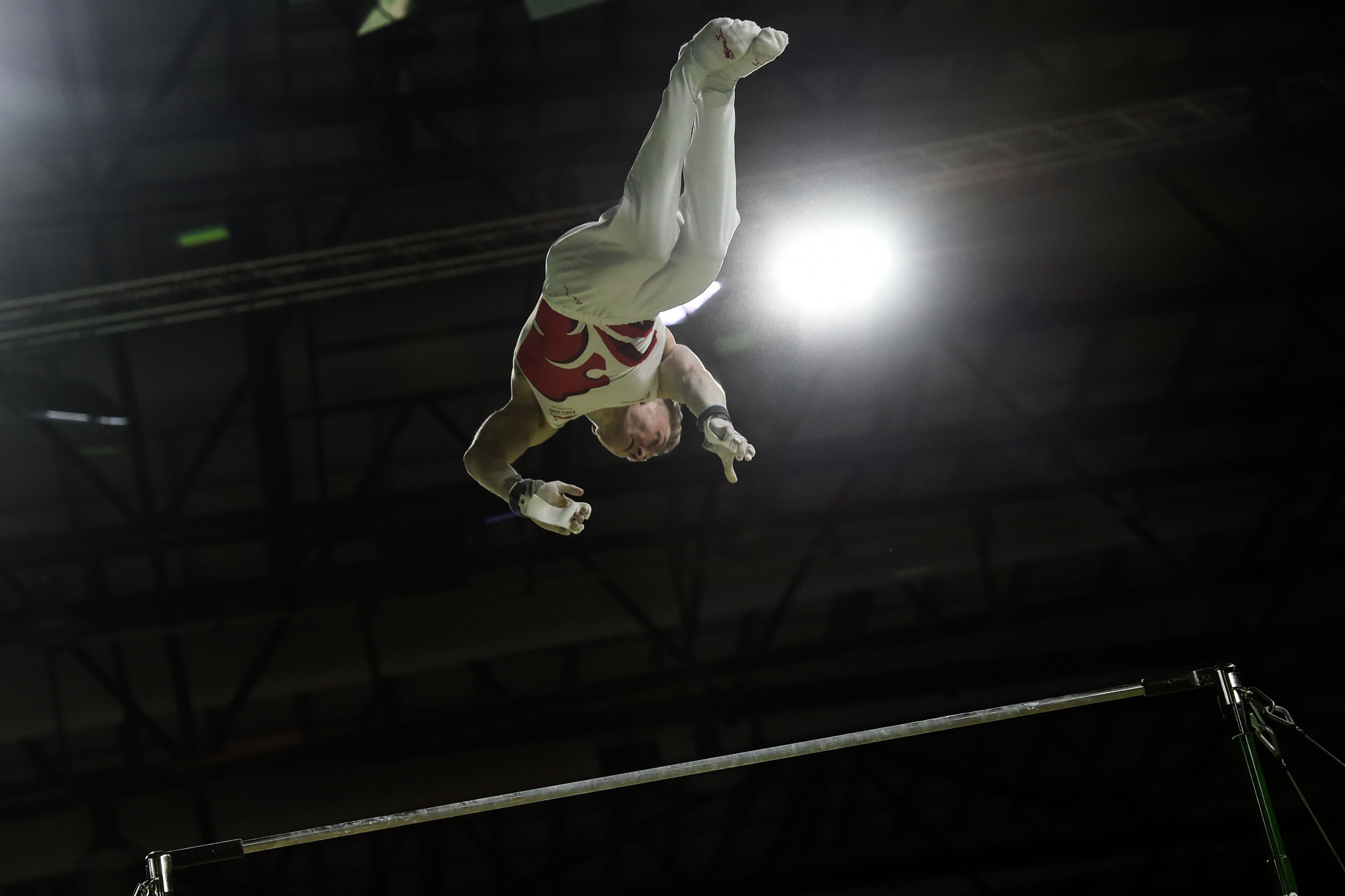 Nile Wilson claimed his third gold medal with victory in the men's horizontal bar event ©Getty Images