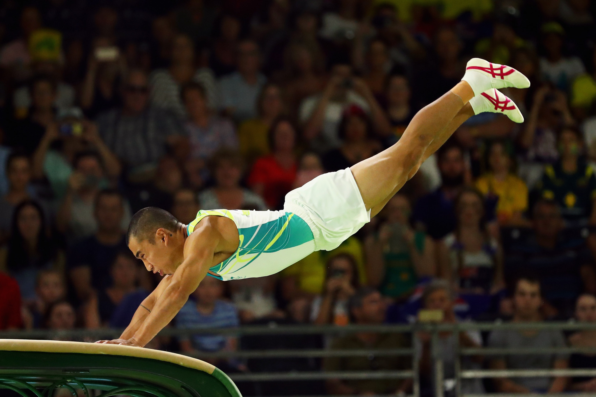 Christopher Remkes claimed Australia's first artistic gymnastics gold medal with victory in the vault final ©Getty Images