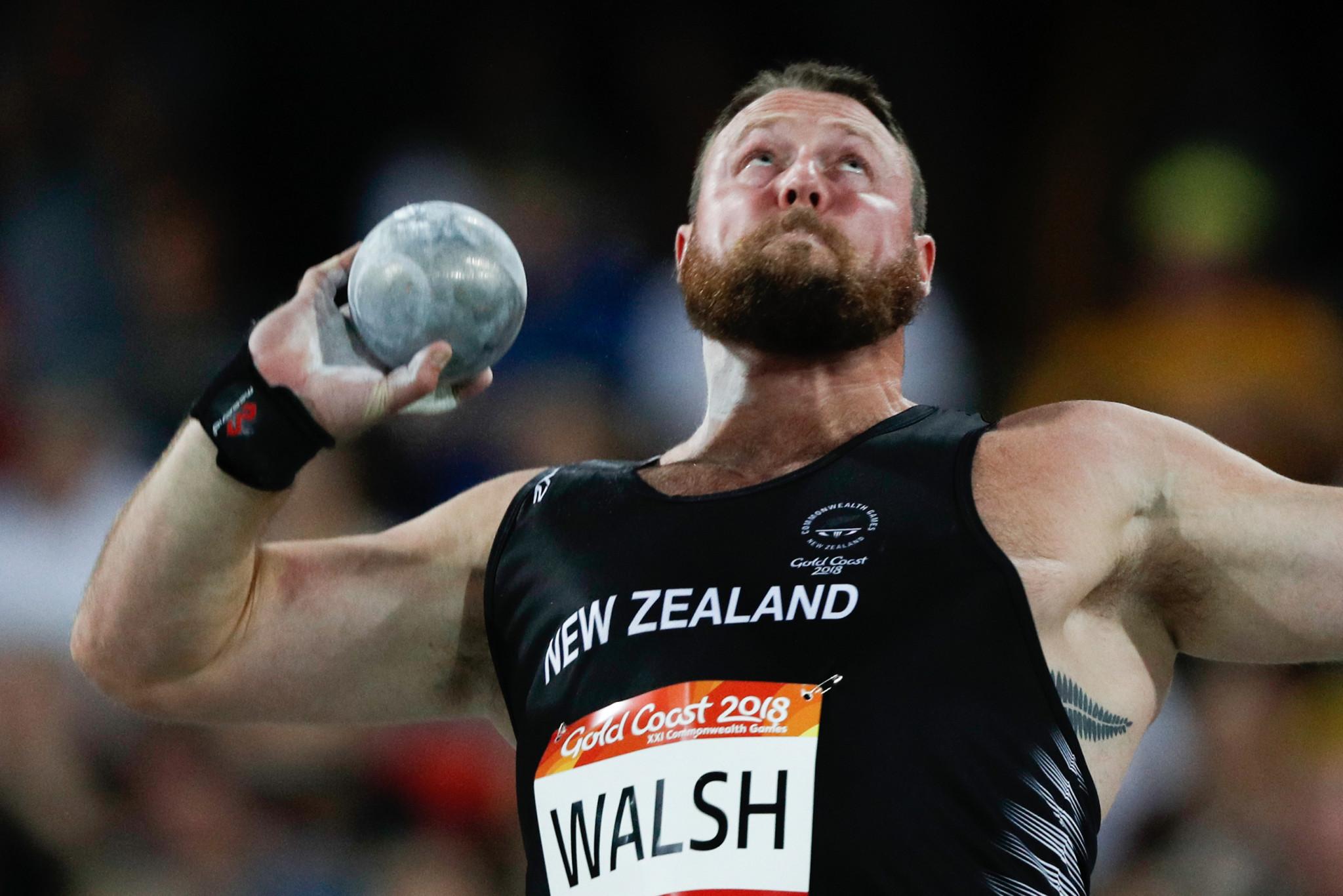 New Zealand's Tomas Walsh won the men's shot put ©Getty Images