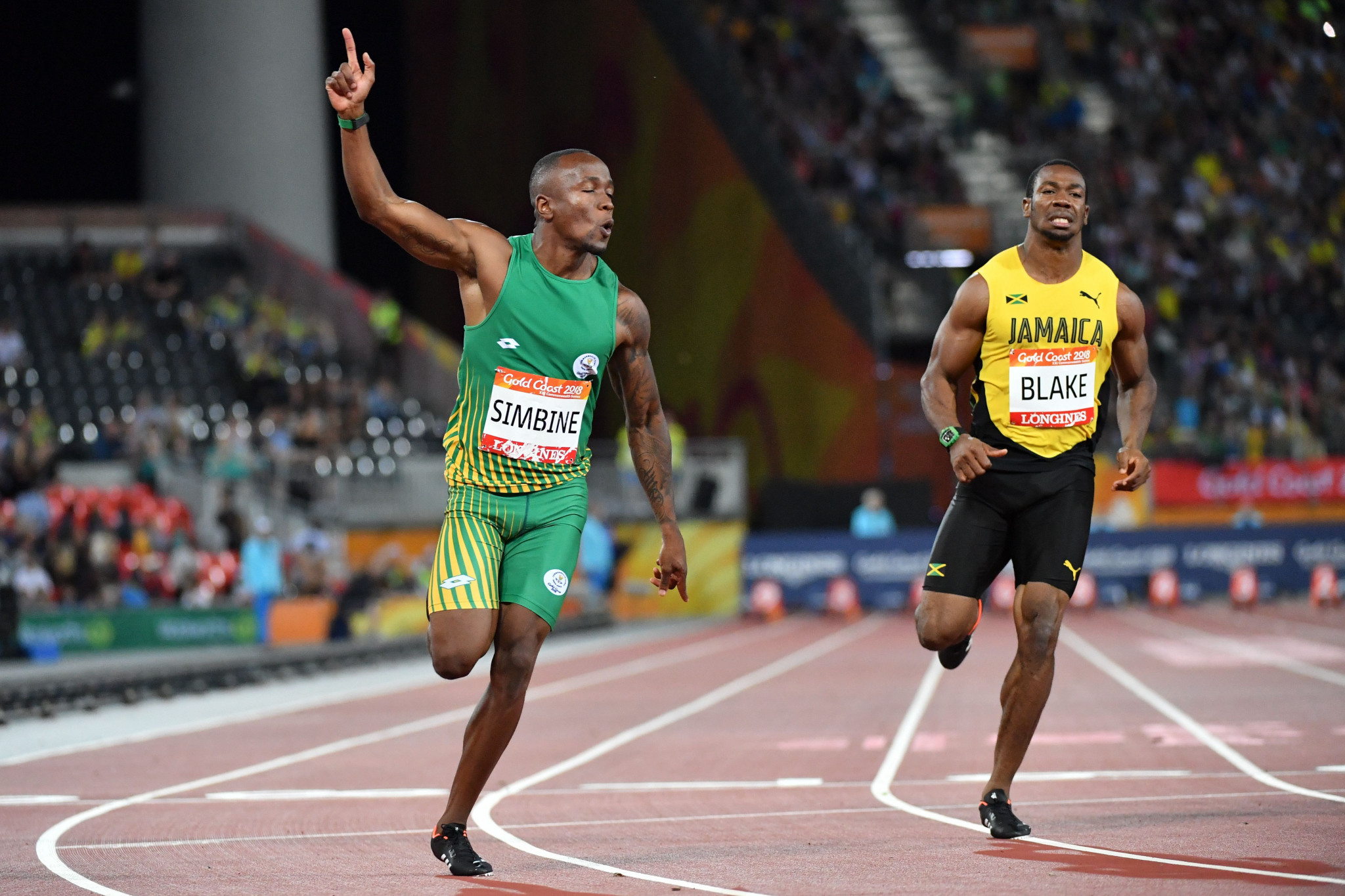 South Africa's Akani Simbine was a shock winner of the men's 100m ©Getty Images