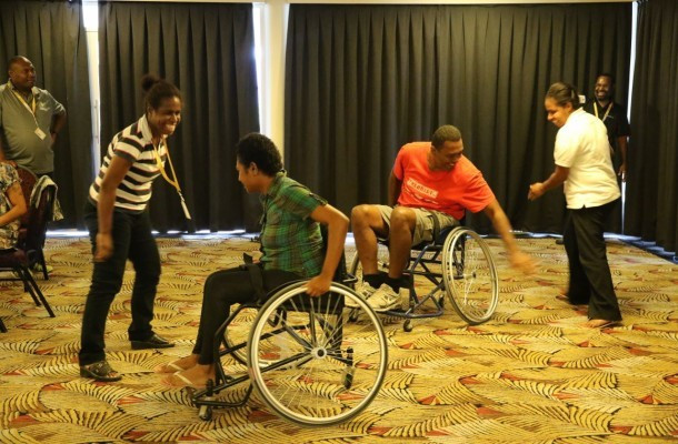 As part of the workshop Organising Committee staff underwent disability awareness training