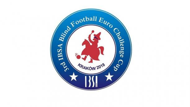 Logo for blind football's Euro Challenge Cup 2018 in Krakow unveiled by IBSA