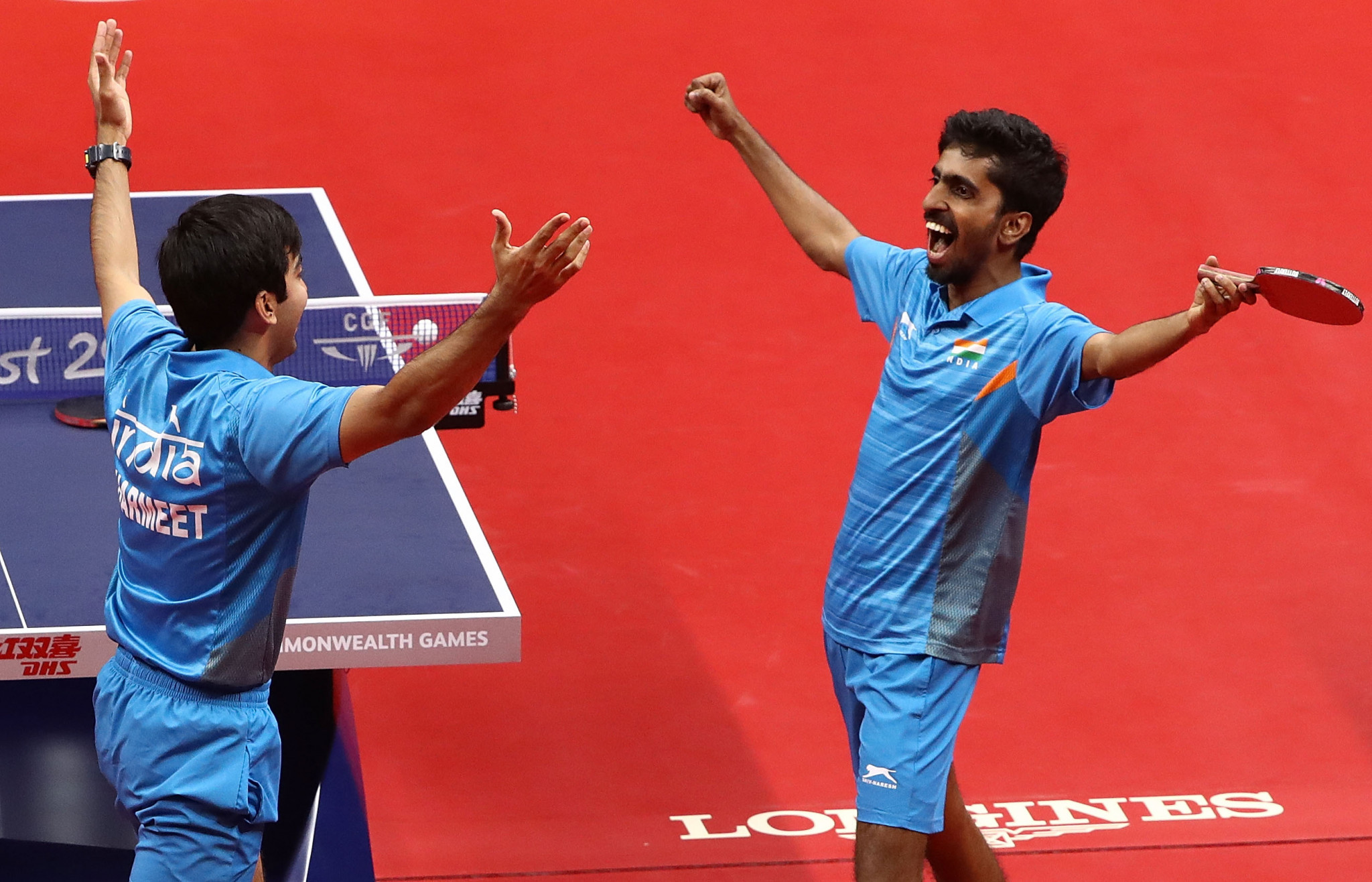 India clinch men's team table tennis title at Gold Coast 2018
