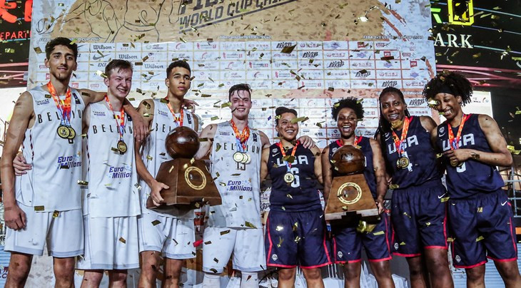 Belgium and the United States won the 3x3 U18 World Cup in Chengdu last year ©FIBA
