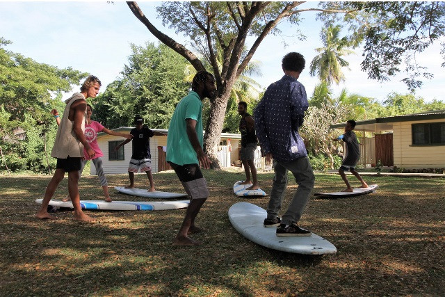 A surfing instructors course being held in Fiji ©ISA