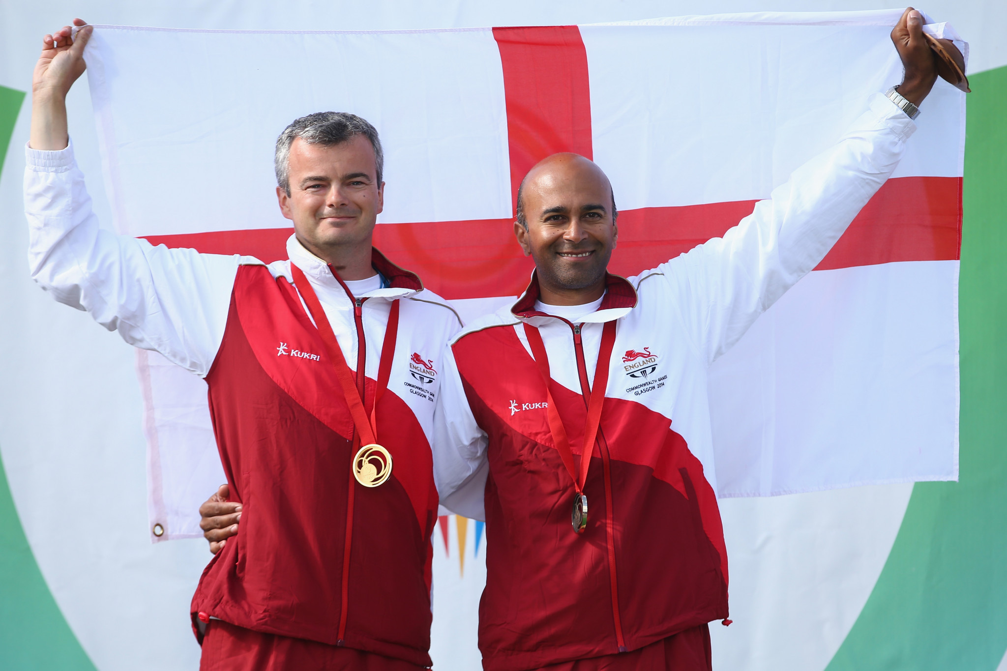 England's Parag Patel and David Luckman won the Queen's prize pairs event ©Getty Images