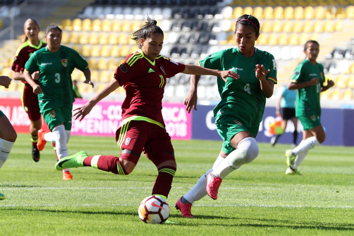 Venezuela continued their 100 per cent start to the Copa América Femenina ©Twitter